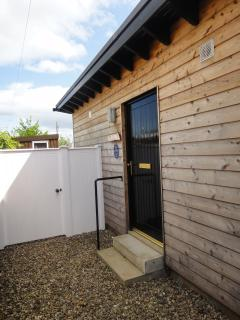 Private entrance has two steps the rest of the accommodation is on the level.