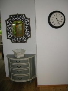 Mirror & clock