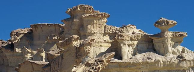 Rock Erosions Bolnuevo Beach