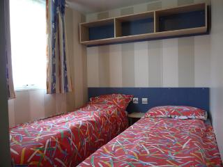 Single beds x 2 (some have 3 single bed upper being a bunk/ crossover)