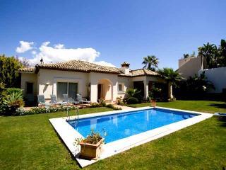 Private swimming pool in rear garden