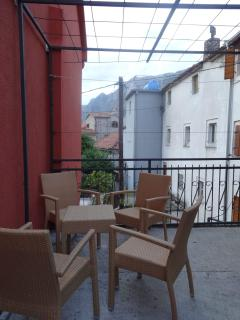 terrace in front of the apartment