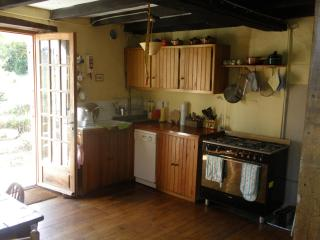 Kitchen leading out to terrace