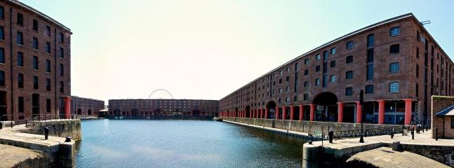 World famous Albert Docks in nearby Liverpool