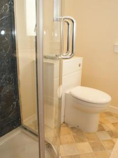 Newly renovated shower room with large double shower with rain effect option