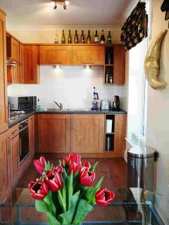 Fully equipped Kitchen in Moonlight Apartment, Durham