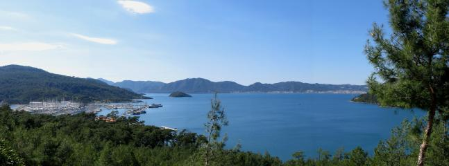 View over Marmaris Bay towards the town.