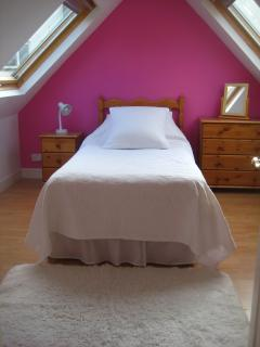 2nd floor bedroom 1 now with new double bed with views over valley and town nb with king size quilt