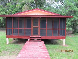 Bocatura Preserve cabin 3; 1 queen, 1 sofa bed, sleeps 3, 1 bath ,  kitchen