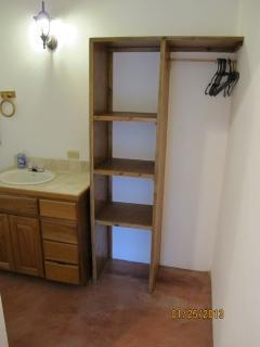 Bath vanity and closet