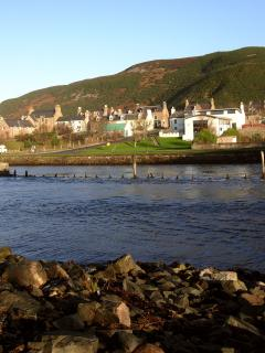 A view towards Helmsdale and the cottage from the other side of the river