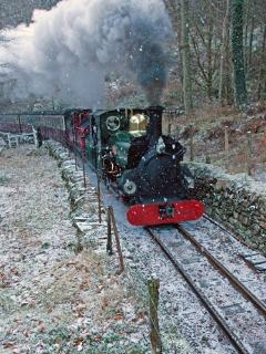 Ffestiniog railway in the snow