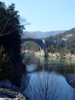 The Roman bridge on the Herault River