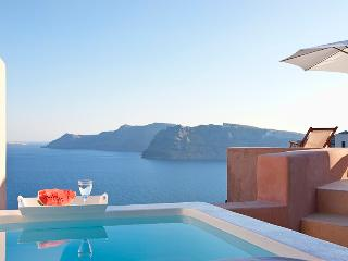 Blue Villas | Galatia Villa | Sunset view in Oia