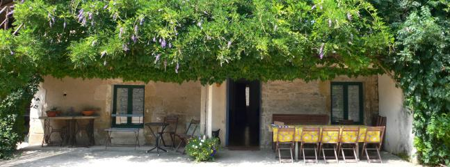 A great spot for lunch on a hot day, shelter with a refreshing glass of local wine!