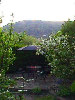 Beautiful view of the Garth Mountain and patio