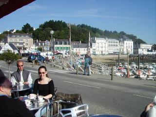 Morning coffee in Audierne Harbour
