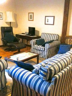 Main Lounge looking towards TV and relaxer chair