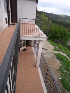 Enjoy the views from either balcony