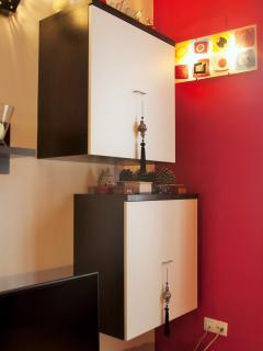 Double hanging cupboards set.