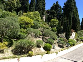 view from the bedrooms to Jardin Fontana Rosa