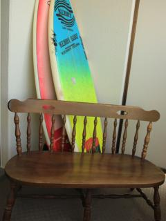 Two surfboards are free to use.
