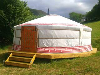 Yurt at Mid Wales Tipis, Machynlleth