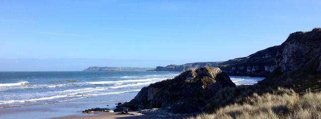 View of Whiterocks, Portrush (approximately 4 miles from the apartment)
