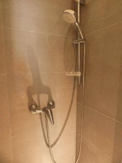 Shower with beautiful tiles