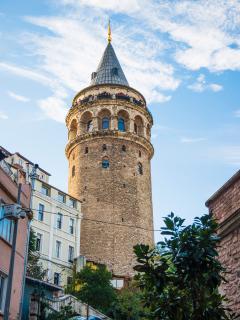 Galata Tower around the corner