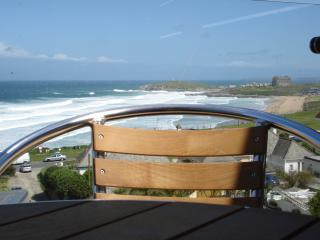 Fistral Beach Apartment,  Newquay with sea views & sunny balcony