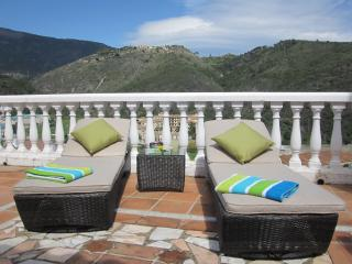 Top up your tan on the secluded upper terrace