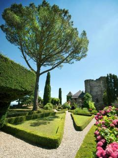 Castle gardens in Turenne