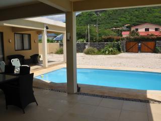 Our Veranda open on pool