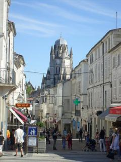 Pedestrian Zone in Saintes, a nearby medieval town with beautiful cafes, shops and historical sites