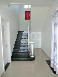 Staircase to Bedrooms upstairs with downstairs W.C on the left.
