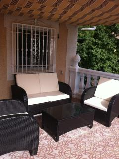 The Terrace and ratan outdoor setting
