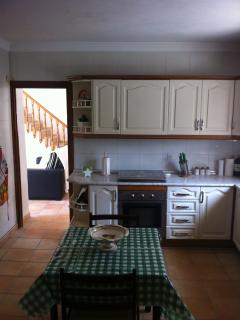 The large kitchen with kitchen table