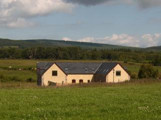 View of the cottages and surrounding farmland