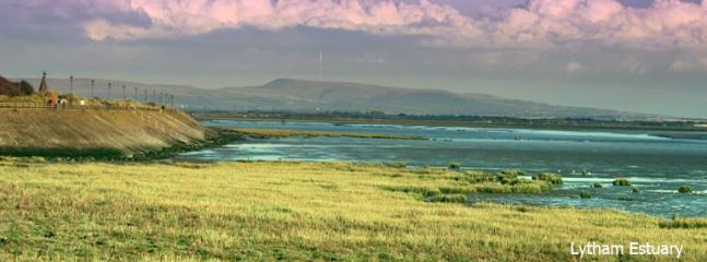 Granny's Bay, Ribble Estuary and Winter Hill in distance.