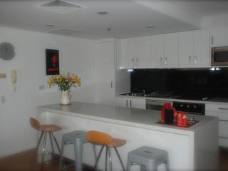 Large & modern well equipped kitchen -dishwasher, hot plates, oven, microwave, coffee maker