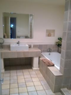 lower level master bedroom on-suite bathroom