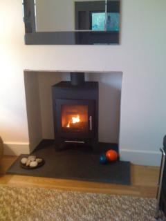 Wood burner for chilly nights