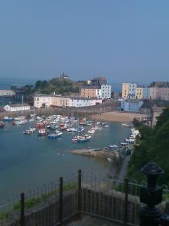 View of Tenby Harbour just outside