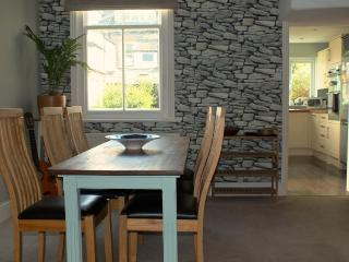 Dining Room with Drystone Wallpaper
