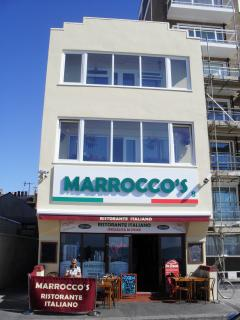 Marroccos licensed restaurant and ice cream parlour,seconds away from the cottage.