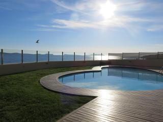 Beautiful heart shaped pool by the sea