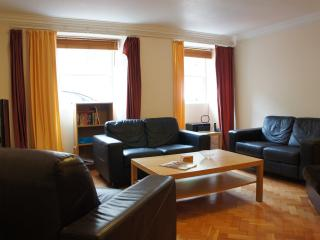 Spacious lounge with dining area, large flat screen television and WI-FI