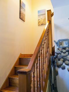Lower stairway.