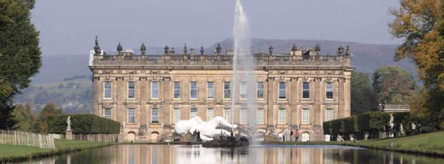 Chatsworth Estate and the Peak district are also on the doorstep